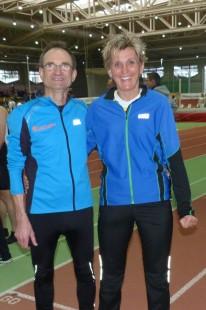 """""""Ich fühle mich beim ASV Erfurt sehr  herzlich aufgenommen"""", meine Kathrin Rokitta nach ihrem silbernen Meisterschaftseinstand,  daneben ihr Trainer Jürgen Tuch."""