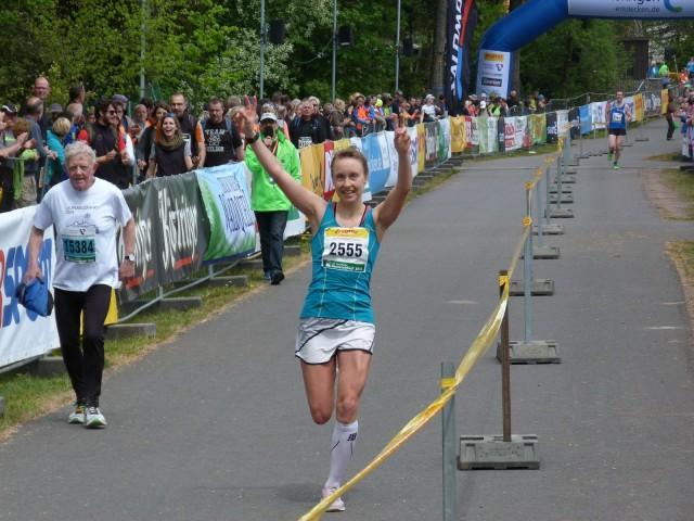 Daniela Oemus beim Zieleinlauf