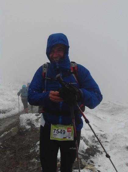 Jens Panse auf dem mit 2.537 Metern höchsten Punkt seines Laufes