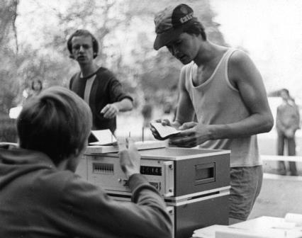 Apparatur zur Erfassung der Läuferzeit 1977