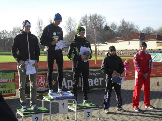 Siegererhrung der 10km Strecke