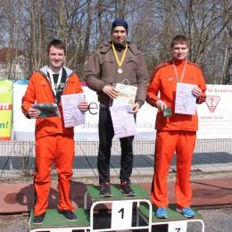 Siegerehrung M20: Marcel Knape (2./ Gesamtzweiter), Steffen Tostlebe (1./ Gesamtsieger) und Christoph Weigel (3./ Gesamtfünfter) (v.l.n.r.).