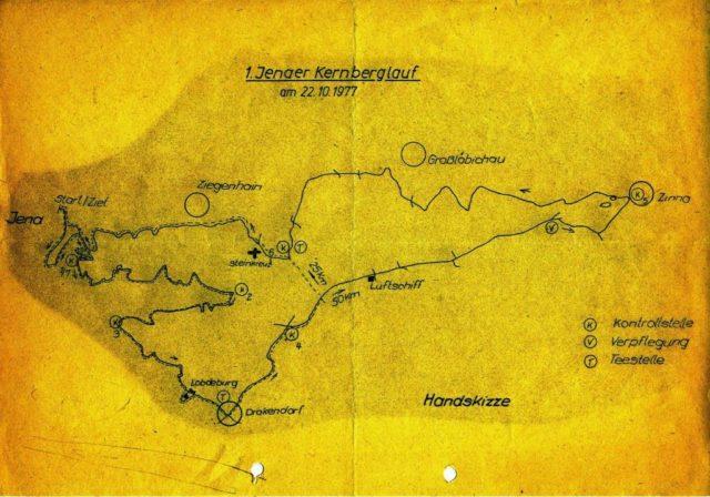 Skizze Kernberglauf 1971