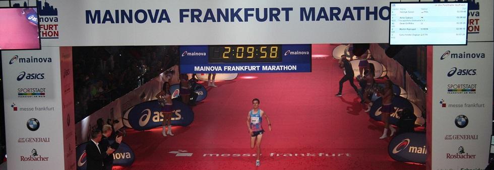 36. Mainova Frankfurt Marathon: Starke Thüringer im Wind