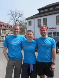 Erfolgreiches Laufteam am Sonntag: Nicky, Daniela und Wolfgang