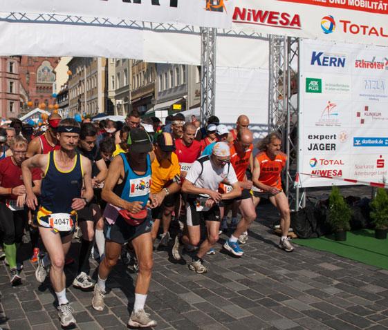 Start des Marathons