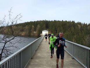 Die Strecke führte über die Zillierbachtalsperre