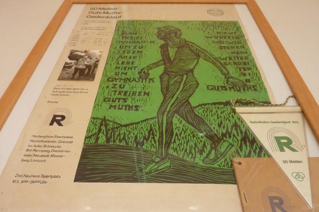 Plakat des Rennsteiglaufes 1975