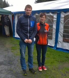 Sieger beim 10 Kilometerlauf: Cornelia Michaelis und Christoph Weigel
