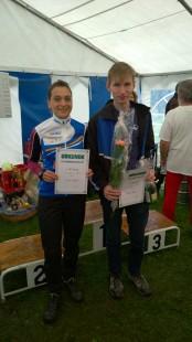 Sieger bei dem Halbmarathon: Kristin Hempel und Adrian Panse