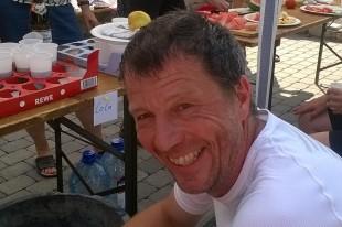 Organisator Gunter Rothe lief selbst mit