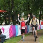 Zieleinlauf des 100-Meilen-Siegers Peter Flock.