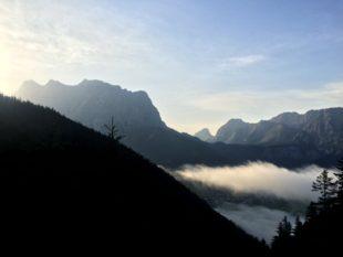 Die Zugspitze im Sonnenaufgang