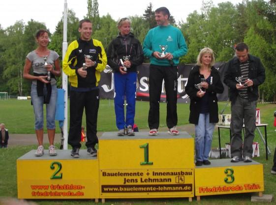 Alle Sieger der 13,2-km-Strecke des Abend-Berg-Laufes