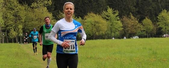 Lächelnd nach 30 Kilometern: Beim Rennsteig-Marathon 2013 verpasste sie den Sieg nur knapp