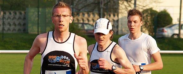 Alexander Fritsch, Peter Rodewald und Marcel Bräutigam jagen den Streckenrekord