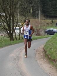 Rashe Bugga beim Zieleinlauf