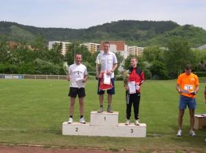 Siegerehrung der 15-Kilometer-Läufer