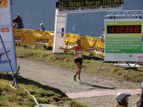 Stefan Hubert im Ziel  bei der Berglauf-WM Langdistanz zum Jungfrau-Marathon (Schweiz) 2012
