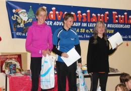 Die Siegerinnen der 9-km -Strecke