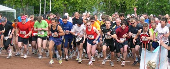 Start des Lobdeburglaufs 2009