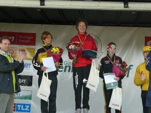 Siegerehrung Frauen - Romy Lindner, Stefanie Wiesmair und Juliane Döll (von links)
