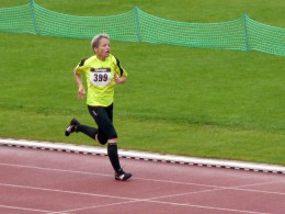Bettina Tschernig war in 19:01 Minuten die schnellste Frau des 5000-Meter-Laufs