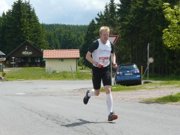 Frank Wagner lief für den Rennsteiglaufverein auf der Etappe 6