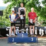 Siegerehrung der Männer - Alexander Fritsch (LSV Lok Arnstadt) schnellster & gleichzeitig Thüringer Berglaufmeister 2009