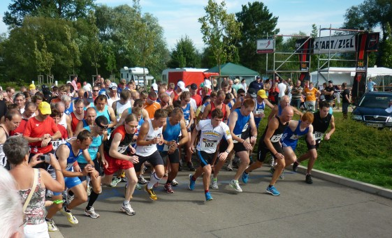 Start des 10,5-km-Laufes