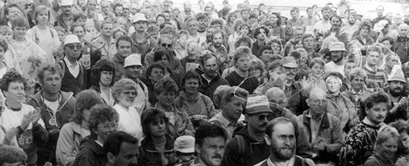 Rennsteiglauf 1989 - Vor dem Start