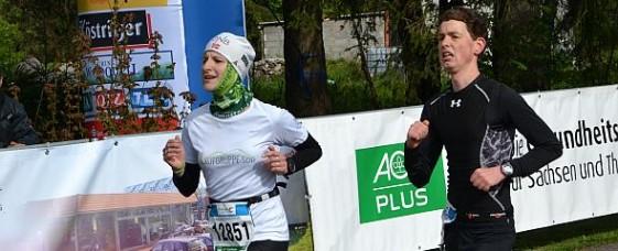 Nicole Kruhme beim Zieleinlauf