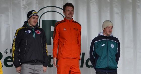 Das Siegerpodest in der Männerwertung: Roy Meingast, Marcel Knape und Daniel Häusler