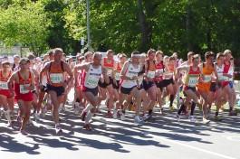 Start des 10-Kilometer Laufs bei der Senioren-EM in Aarhus