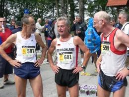 Das zweitplatzierte M55-Berglaufteam Hans-Günter Müller, Elmar Fries und Martin Wahl
