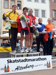 Siegerehrung 11 Kilometer Frauen