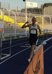 Steffen Tostlebe beim Zieleinlauf
