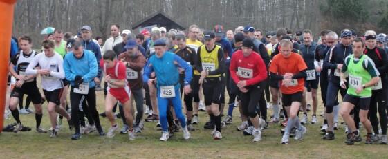 Start des 20 km Laufes