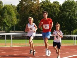 Teilnehmer am Halbstundenlauf